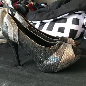 Sparkling high heels